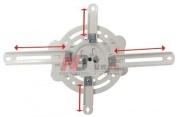 T717M - Stropní držák na projektory, vzdálenost od stropu 135mm, nosnost 13.5 kg, barva bílá NB