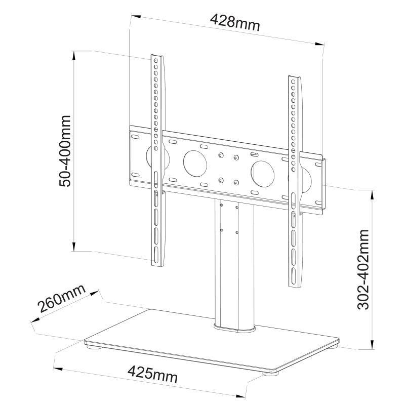 Ergosolid Castor 2 nejlevnější kvalitní a pěkná podstava / podstavec na LCD LED OLED i QLED televize