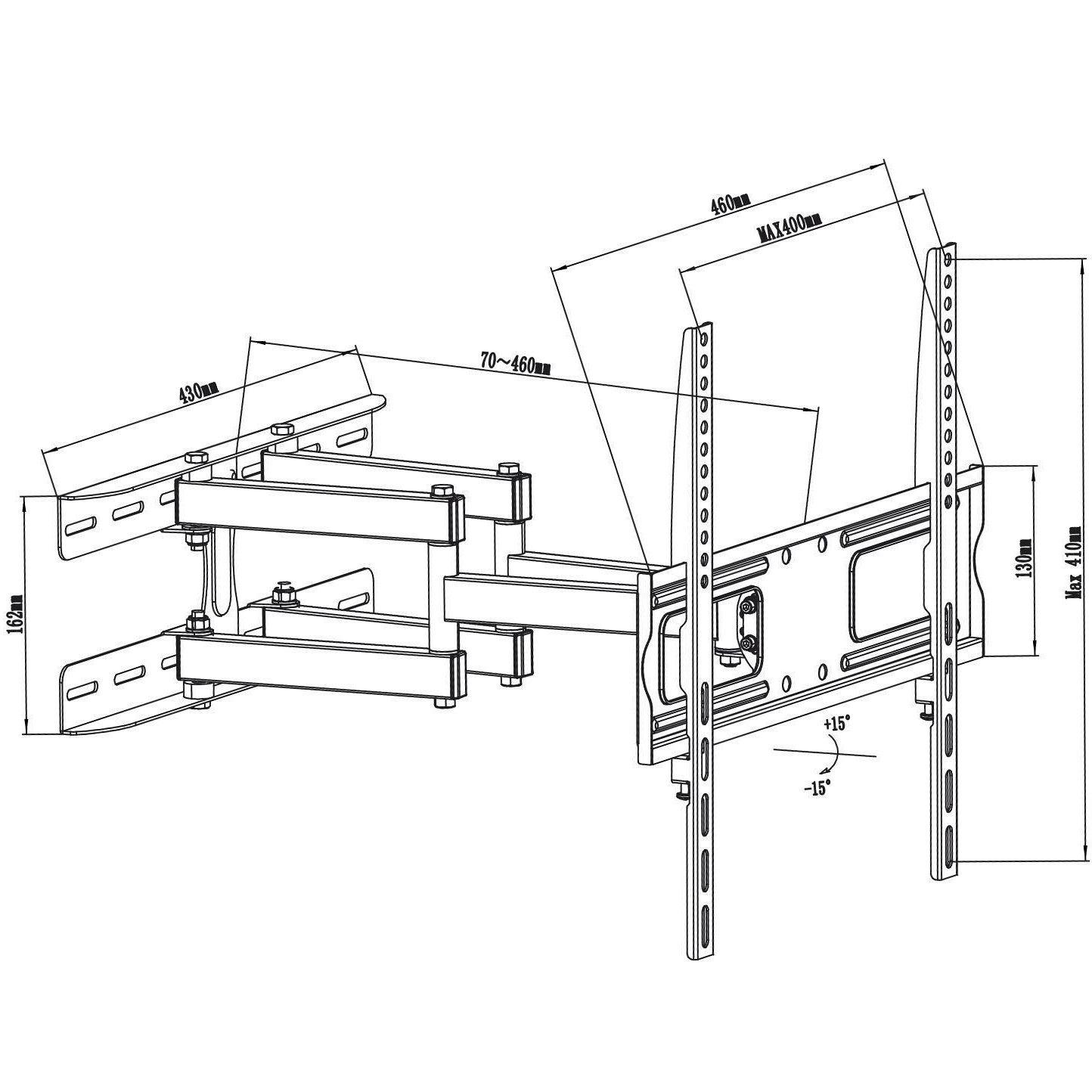 Fiber Mounts M7C62 je robustní dvouramenný držák na LCD LED plazmové televize