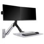 Držák na 2 monitory a klávesnicí Fiber Mounts MC40-2A