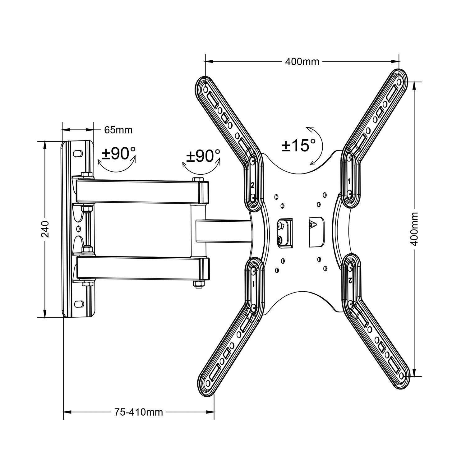 Držák pro zavěšení LCD LED Tv na stěnu Fiber Mounts M7C59