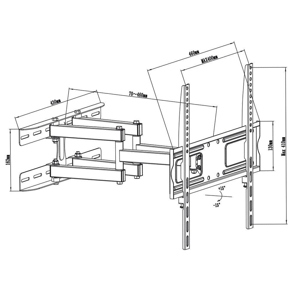 Otočný držák na LCD LED televize Fiber Mounts M7C6