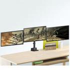 Stolní držák na 3 monitory - plně polohovatelný, pro nastavení monitorů do libovolné pozice, profesionální - Fiber Mounts M8C11