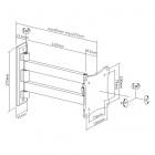 Kvalitní hliníková konstrukce u držáku Fiber Mounts FM102G