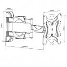 Držák tv levný otočný a sklopný Fiber Mounts D7C42