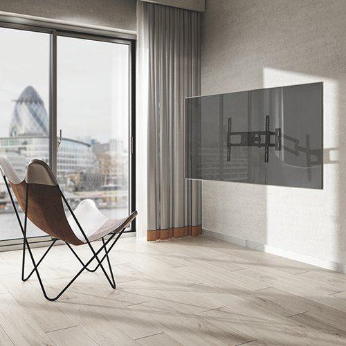 Nástěnný televizní držák s možností natočení televizoru do strany, náklonu a nastavení vzdálenosti od zdi Fiber Mounts LONG61
