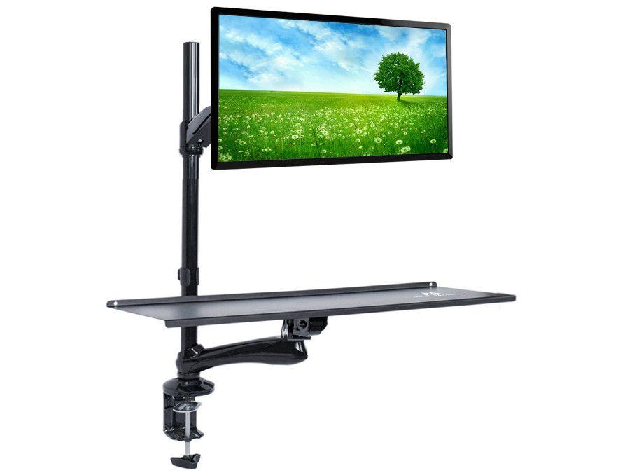 Držák monitoru a klávesnice pro práci vsedě nebo vestoje M68C1