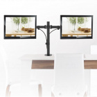 Levný plně polohovatelný stolní držák na 2 monitory Fiber Mounts M7C54