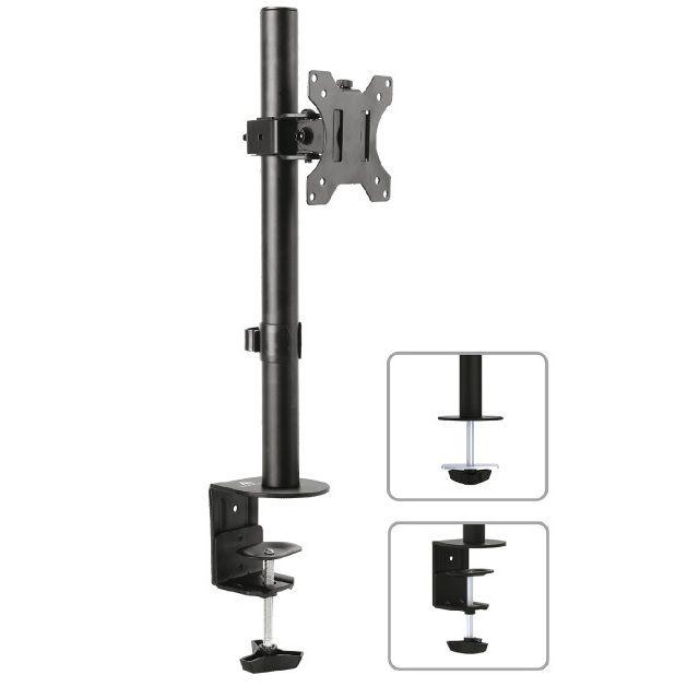 """Levný stolní držák na monitor 13-32"""", VESA 75x75 a 100x100, nosnost 15kg, nastavení výšky, otáčení do stran, náklon - Fiber Mounts M7C51"""
