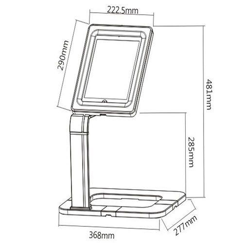 Stolní stojan držák na tablety a iPady univerzální uzamykatelný Fiber Mounts M6C44