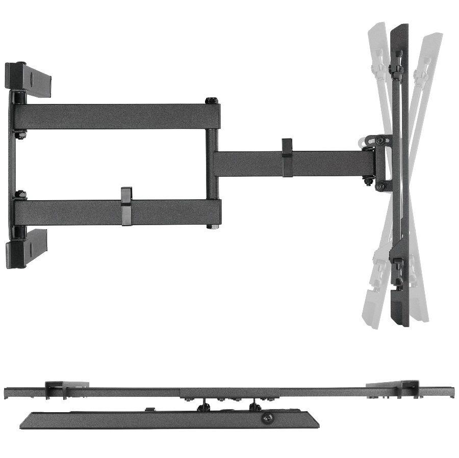 Náklopný, délkově nastavitelný a otočný držák na LCD LED plazmové televize Fiber Mounts TALL1