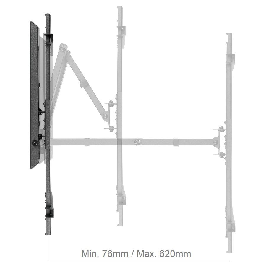 Otočný, sklopný a délkově nastavitelný držák na televize Fiber Mounts TALL1