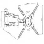 Fiber Mounts D7C43 kvalitní levný nastavitelný držák Tv