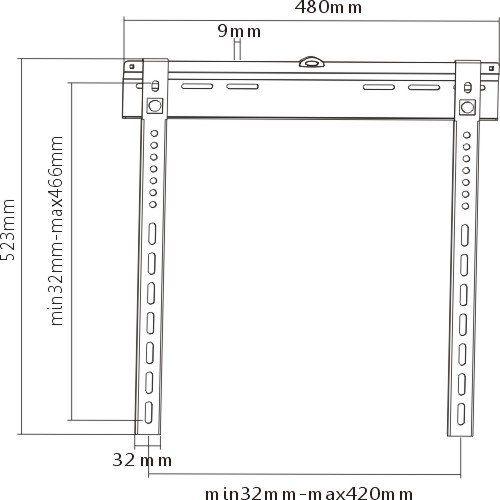 Tenký držák na LCD LED i plazma Tv, vzdálenost od zdi 9mm Fiber Mounts THIN9