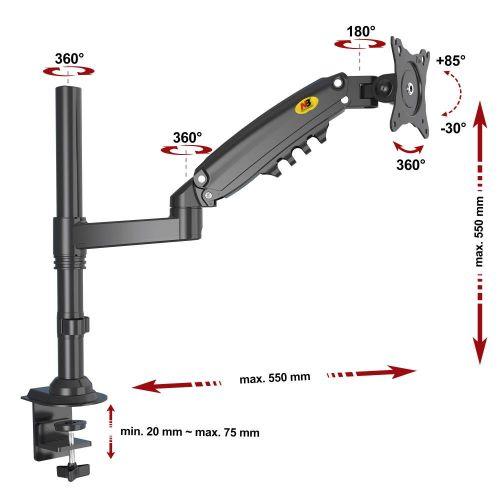 Výškově stavitelný stolní držák na LCD monitor