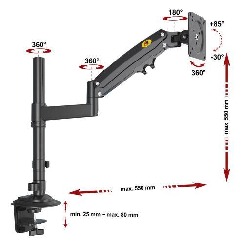Držák monitoru s výškovým nastavením Fiber Mounts H100B