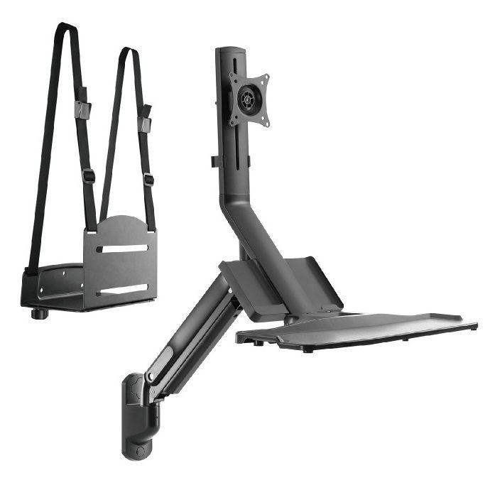 Pracovní stanice na monitor klávesnici a pc skříň Fiber Mounts M8C38