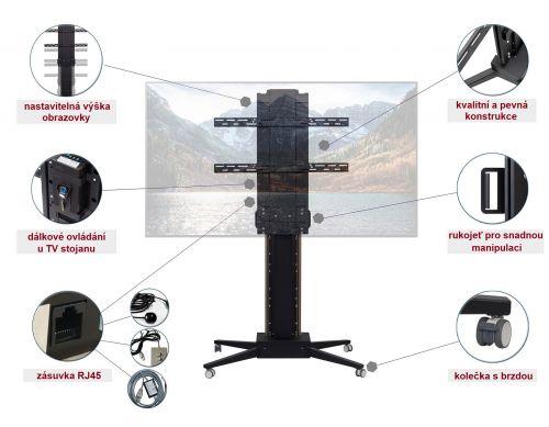 Kvalitní elektrický výsuvný televizní stojan Mounts Mobi-Lift