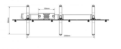 Kvalitní podstava u televizního stojanu EDBAK VWTA3357L