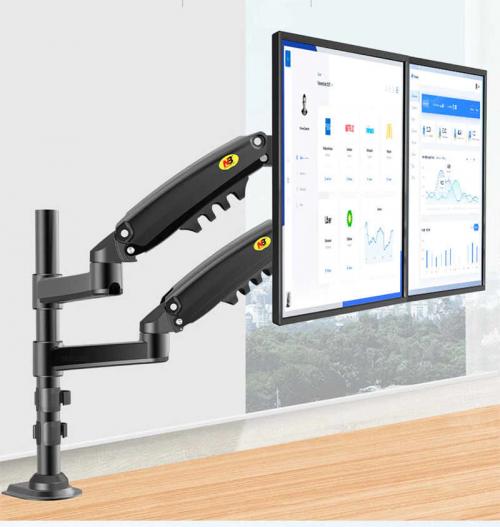Držák na 2 monitory stolní Fiber Mounts H160B
