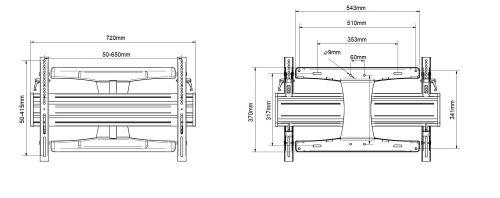 Nákres televizního držáku EDBAK VSM653