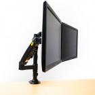 Výškově polohovatelný stolní držák dvou monitorů