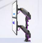 Otočný, sklopný, výškově stavitelný držák na 2 monitory