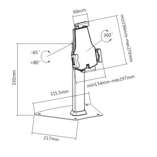 Pevný stolový stojánek na iPad