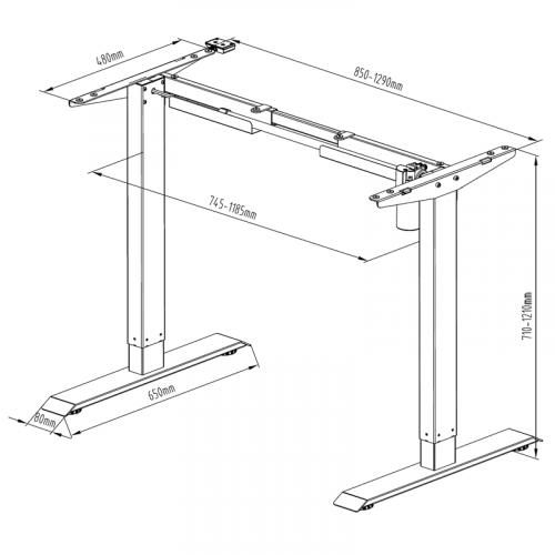 Kancelářský stůl s elektrickým nastavením výšky