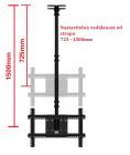 Kvalitní polohovatelný stropní držák na televize Fiber Mounts T560