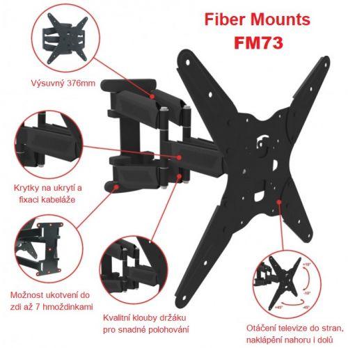 Nastavitelný televizní držák od stěny Fiber Mounts FM73