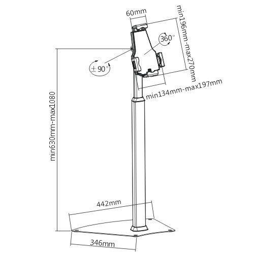 Kvalitní podlahový stojan na tablety, iPady