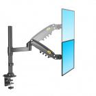 Výškově stavitelný stolní držák monitoru Fiber Mounts H80B