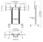 Rozměry televizního stojanu Fiber Mounts AVT1800-60-2A