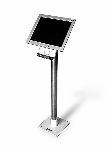 STD03 - Stojan pro LCD monitory a dotykové displeje, kotvení do podlahy, výška 105 cm EDBAK