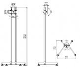 """SV52 - Prezentační stojan na LCD plazmové LED monitory 14-26"""", výškové nastavení, funkce PIVOT EDBAK"""