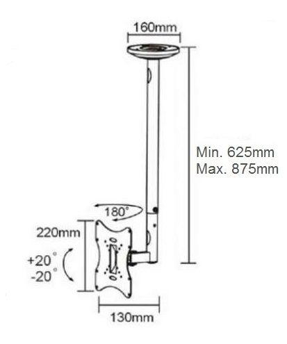 Stropní držák FM504A