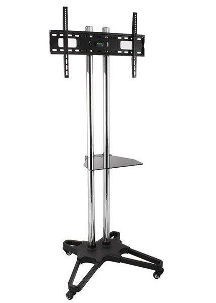 Pojízdný televizní stojan chrom Fiber Novelty FN1021