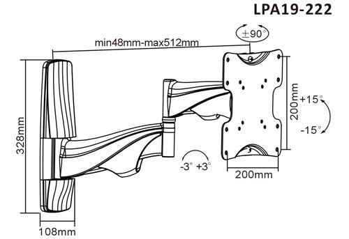 Základní parametry držáku FN19-222