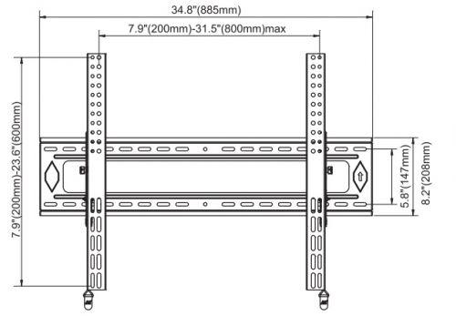 Sklopný držák na zeď NB D90