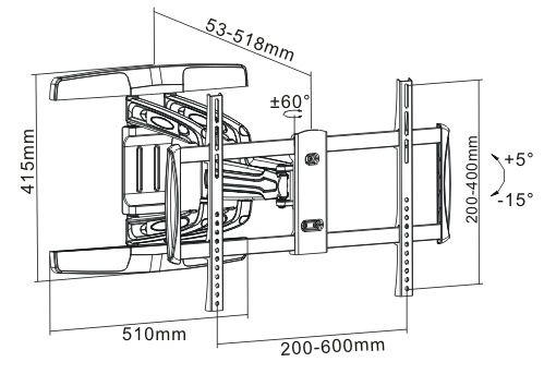 Základní rozměry držáku Fiber Novelty FN316