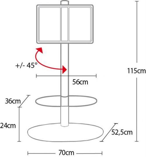 Rozměry stojanu OMB Screen Tower