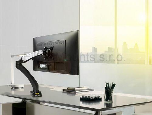 Držák Fiber Mounts F100 namontovaný na stole
