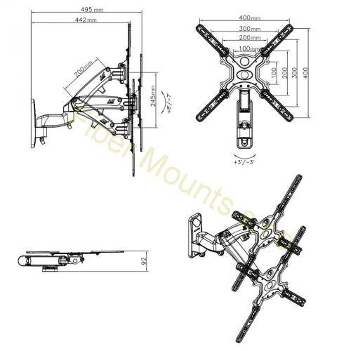 Rozměry držáku Fiber Mounts F450