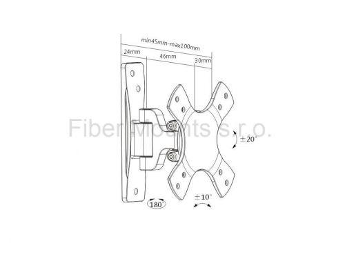 Rozměry držáku Fiber Mounts MC532