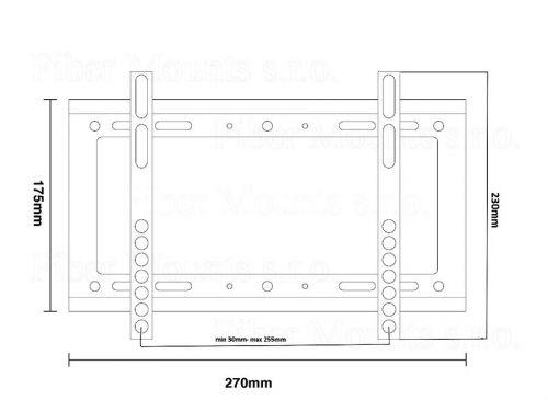 Držák fixní na LCD LED televizi
