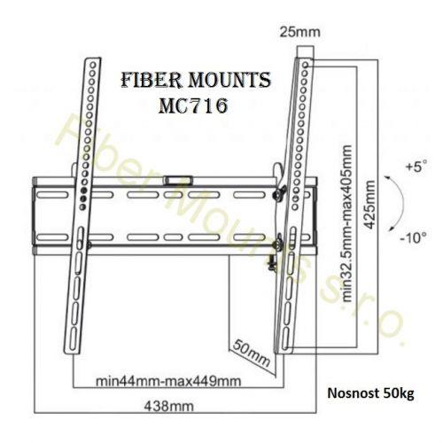 Nákres držáku Fiber Mounts MC716