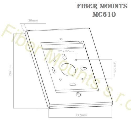 Nástěnný držák na tablet MC610