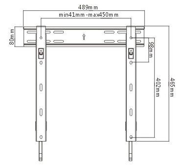Fixní držák na LCD LED televizi s minimální vzdáleností od zdi