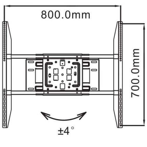 Korekce roviny, max. rozteče VESA